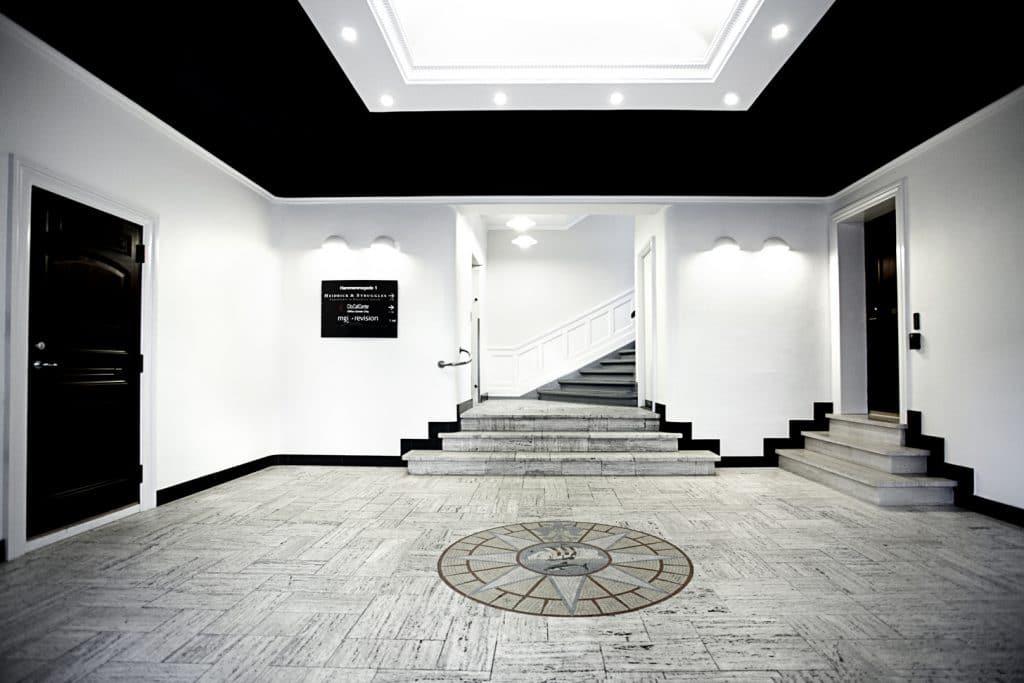 Lobbyen til vores kontorlokaler i København